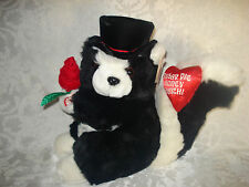 Dan Dee Valentine Singing Animated Plush Stuffed Squirrel /Sugar Pie Honey Bunch