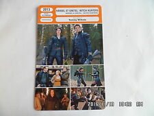 CARTE FICHE CINEMA 2013 HANSEL ET GRETEL WITCH HUNTERS Jeremy Renner G.Arterton