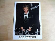 Rod Stewart   Rockmusiker      handsigniertes Autogramm auf Foto.