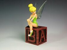 Disney Parks Peter Pan TINKER BELL on Block Box Light Up Figurine  - NWT