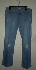"NWOT Hollister Ripped Denim Ankle Jeans Sz 11 w 29"" inseam RN102573 Mexico"