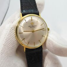 JULES JURGENSEN,17j Manual Wind,18K Solid Gold Case, Thin! MEN'S WATCH,1949.L@@K