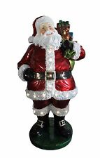 "LED Holly Santa with Gift Bag ""Life Size Statue"""