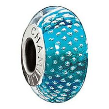 Authentic NEW Chamilia Mystic Collection Turquoise Glass Bead Charm  2116-0083
