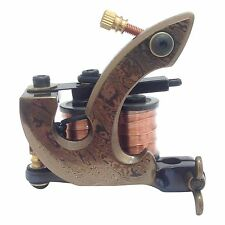 D3 Damascus Tattoo Machine Steel Handmade Shader Gun 10 Wrap Coil + Metal Case