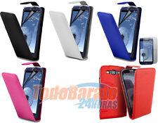 Funda cuero piel + 2 PROTECTORES Samsung Galaxy S3 SIII I9300 COVER FLIP CASE