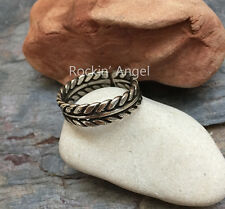 Antique 925 Silver Plt Wheat Sheaf Ring / Knuckle Ring Adjustable Ladies gift