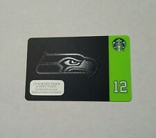 Limited release 2015 - 2016 NFL Seahawks football Starbucks gift card. New!