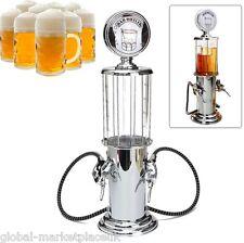 Dispenser Bere Birra Bar Pub doppio trigger POMPA Vetro Vino in Plastica Metallo Color Argento