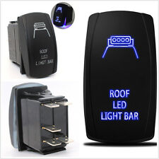 Laser Rocker Switch Backlit Car Roof LED Light Bar Blue 5 Pins On-Off 12V 20A