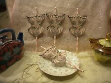 Shabby Chic Cup Cake / Dessert Toppers: French Corset Pink (6)