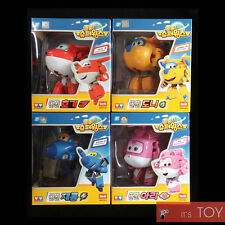 Super Wings Transforming Toys HOGI DONNIE JEROME ARI 4-Figures Set Plane Auldey