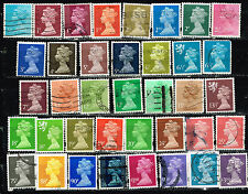 UK Queen Elizabeth 38 stamps collection to £3 CV $50+