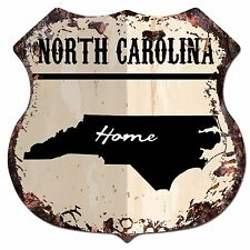 BP0148 HOME NORTH CAROLINA MAP Shield Rustic Chic Sign Bar Shop Home Decor Gift