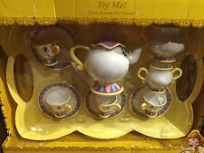 Disney Parks Beauty And The Beast Tea Set Toy Sound Belle Chip Mrs Pots New Box