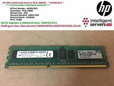 HP 4GB 1x4GB Single Rank x4 PC3L-10600R  - * 647893-B21 *