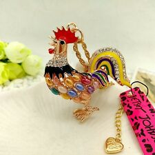 Betsey Johnson Lovely Rooster Pendants chain Sweater chain necklace CC224