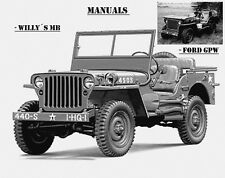 Jeep, Willy 's MB, ford gpw, manuales, instrucciones de reparación, maintenance, Willy' s