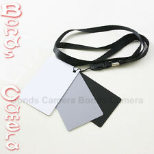 18% Grey Black White Balance Card Set for Sony Olympus Panasonic Camera