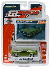 1:64 GreenLight *GL MUSCLE R16* Green 1971 Dodge Challenger R/T *NIP*