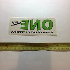The One White Industries Bicycle Bike Decal Sticker Original Free Shipping!!