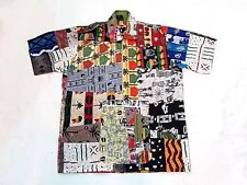 Africa Wax Print Ankara Shirt Zip Front Tribal Patchwork Simply Mother African