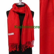 New Pashmina Paisley Floral Silk Wool Scarf Wrap Shawl Soft Classic Red #e305y