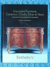 "SOTHEBY'S LONDON ""IMPORTANT FURNITURE CERAMICS CLOCKS SILVER VERTU"" 7 DEC 2010"