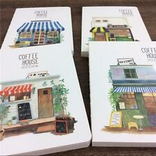"""Coffee House"" 1pc Blank Lined Paper Notebook Diary Journal Planner"