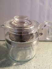 Vintage PYREX Glass Percolator 4-6 Cup Coffee Pot COMPLETE w/Stem Lid Model 7756