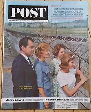 SATURDAY EVENING POST OCTOBER 12 1963 NIXON FAMILY BERLIN WALL JERRY LEWIS