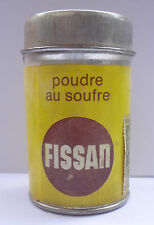 Germany FISSAN Dr Sauer Sulfur Powder Greek Edition Vintage Tin Box Full