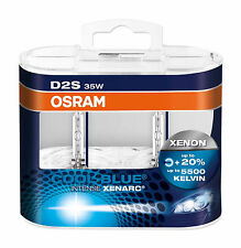 2 unidades OSRAM d2s 66240 cbi cool blue intense Xenarc en duo hard box 5500k