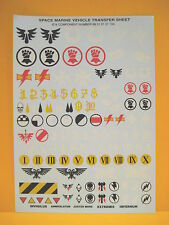 Space Marines - Decals - Transfers - Vehicle - Fahrzeuge - Panzer