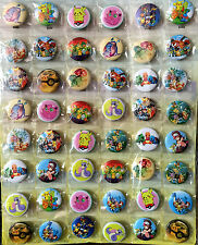 Pokemon 30MM 48 pc LOTS PIN BACK BADGES BUTTONS NEW BAG PARTY CLOTH COSPLAY