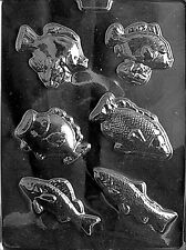 ASSORTED FISH PIECES mold Chocolate Candy Soap cake cupcake summer beach
