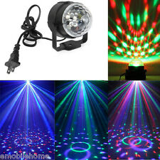 3 LED RGB DJ Club Disco Party Magic Ball Crystal Effect Light Stage Ligh EU PLUG