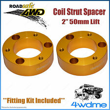 "Pair Toyota Hilux KUN26 4WD Roadsafe Front Coil Strut Spacer 2"" 50mm Lift Kit"