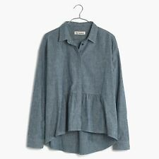 Madewell LIMITED EDITION Rivet & Thread denim ruffle shirt - Size