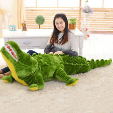 "Giant Big Jumbo Crocodile Animal Stuffed Plush Toy 59"" Christmas Gift"