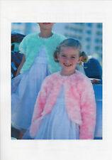 Knitting Pattern DK Girl's Eyelash Bolero Jacket sizes 1/2 yrs - 11/12yr   #127
