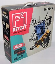 Sony MSX 2 Console HB-F1 Boxed + Manual Tested & Working Japan 0420A2