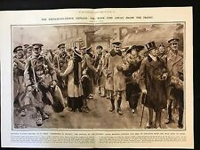 1915 Original 2-Page Newspaper Illustration, Trench To Town Express,  WW1