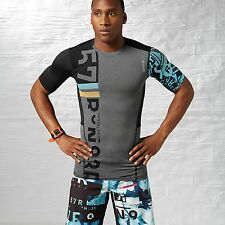 Mens New Reebok Crossfit T Shirt Training One Series Compression XXL CF