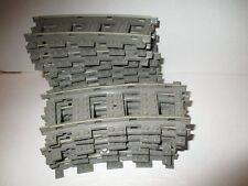 16 x LEGO Eisenbahn Schienen Gleise Kurven grau 9V