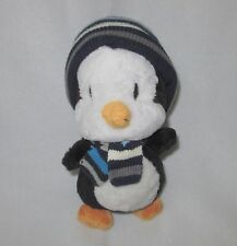 """The Children's Place Penguin Blue Striped Hat Scarf Plush Soft Toy Stuffed 10"""""""