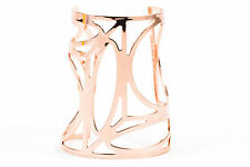 Pierre Hardy NWOT $640 Rose Gold Tone Cut Out Geometric Wide Cuff Bracelet