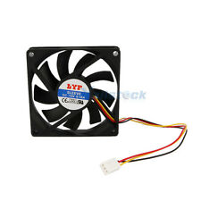 New 3 Pins Black 80mm Chassis Crystal Fan for Computer PC 5845 Black