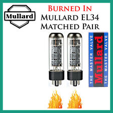 New 2x Mullard EL34 | Matched Pair / Duet / Two Tubes | *Burned In*