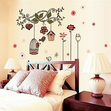Happy Birds Vinyl Wall Stickers Cartoon Home decoration decals for Kids Nurse...